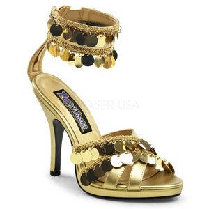 "3 3/4"" High Heel Platform Criss Cross Ankle Shoes"